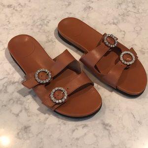 J. Crew Tan Slide Sandals